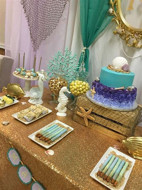 Baby Shower Theme For by Mermaid Themed Baby Shower Baby Shower Ideas Photo
