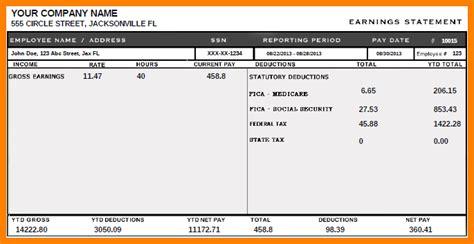 fake pay stubs  sales slip template