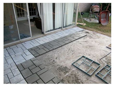 new diy quikrete 6921 34 walk maker patio courtyard