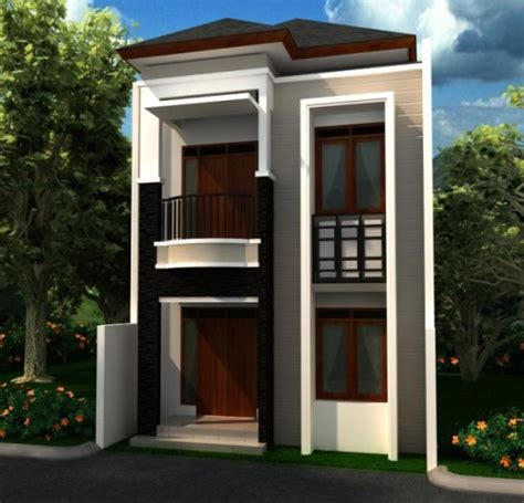 efisiensi pemanfaatan lahan  rumah minimalis  lantai