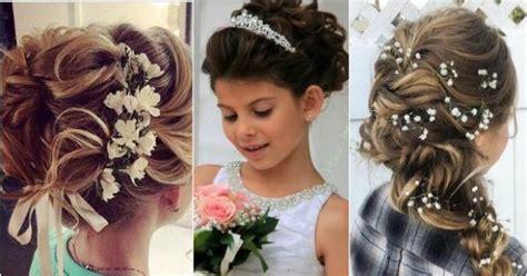 uczesania komunijne dla dziewczynek najpiekniejsze fryzurki  wykorzystaniem kwiatow