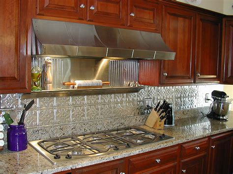 kitchens  metal backsplashes aluminum copper