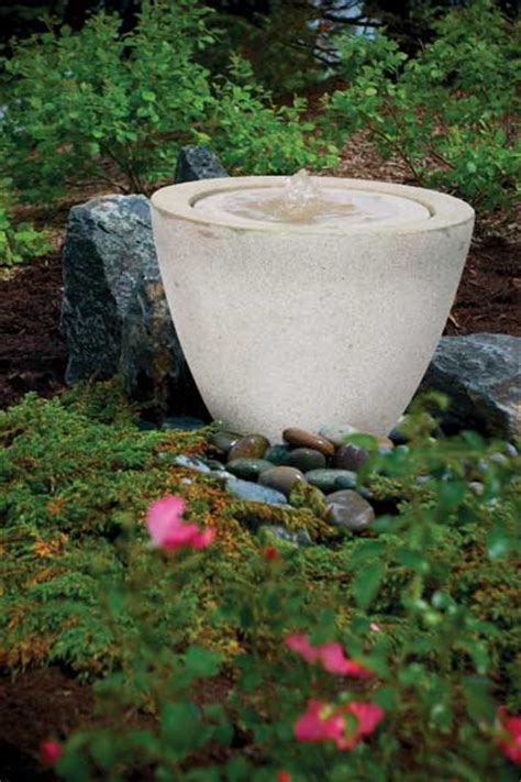 Aquascape Fountains by Aquascape Granite Transition Garden Small
