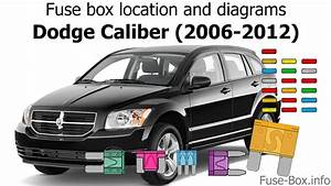 Fuse Box Location And Diagrams  Dodge Caliber  2006-2012