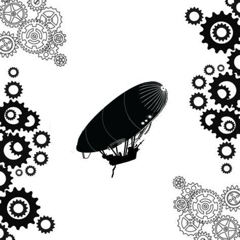 airship steampunk stencil canvas draw   airship