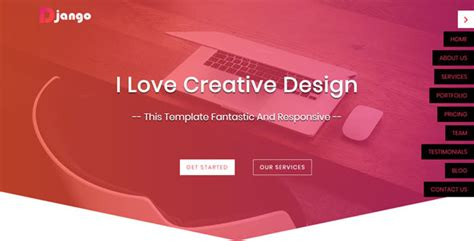 Django Site Templates by Django One Page Html5 Website Template Jogjafile