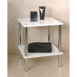 bout de canapé laqué blanc soldes meuble bout de canapé verre bois design ou retro