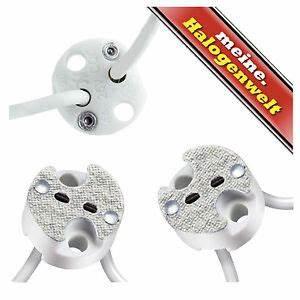 Fassung Gu5 3 : 10x fassung mr16 gu4 g4 gu5 3 mr11 sockel niedervolt 12v halogen lampe led ebay ~ Watch28wear.com Haus und Dekorationen