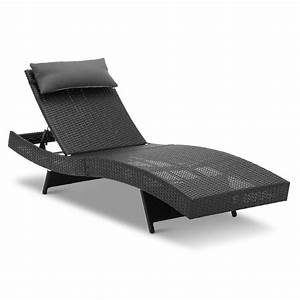 Rattan Lounge Set : black wicker outdoor sun lounge set buy online in australia ~ Orissabook.com Haus und Dekorationen