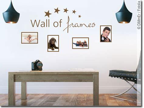 Wandtattoo Mit Fotorahmen by Wandtattoo Wall Of Frames Mit Bilderrahmen