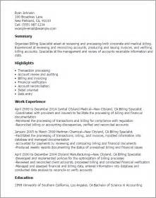 office specialist resume summary professional billing specialist templates to showcase your