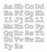 Alphabet Coloring Fonts Stencils Pages Templates Fun Letters Printable Letter Am Funny Abc sketch template