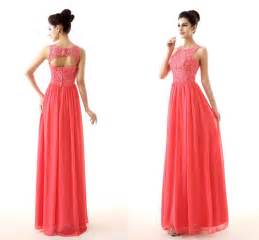 coral bridesmaid dresses cheap coral color bridesmaid dresses 2015 new design lace and chiffon custom made empire