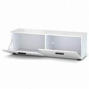Tv Lowboard Led : tv lowboard in wei mit led beleuchtung 138 cm fernseh schrank rack m bel tisch eur 99 95 ~ Indierocktalk.com Haus und Dekorationen