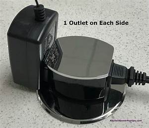 Countertop 2 Sided Spill Proof Pop Up 15a Outlet Surface