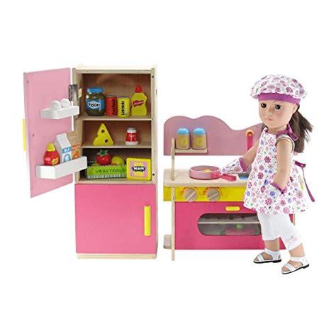 18 inch doll kitchen furniture 18 inch doll furniture pink multicolored wooden kitchen