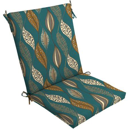 turquoise patio cushions mainstays dining chair outdoor cushion turquoise leaf