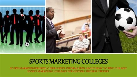 best marketing schools find the best sports marketing colleges for getting finest
