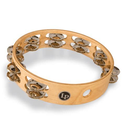 """Tambourines are often used with regular percussion sets. LP® Double Row Tambourine 10""""   Latin Percussion®"""