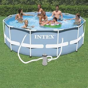 Intex Piscine Tubulaire Ronde : piscine tubulaire ronde intex prism frame 3 66 x 1 22 m ~ Dailycaller-alerts.com Idées de Décoration