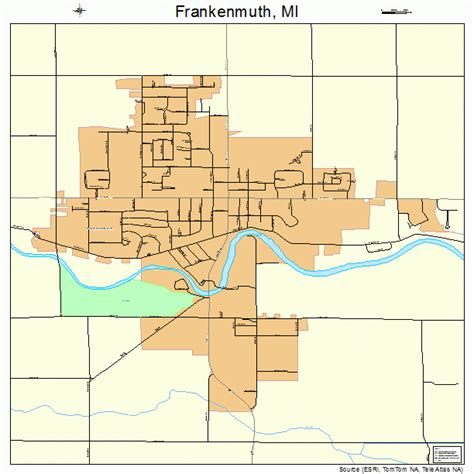 frankenmuth michigan street map 2630200