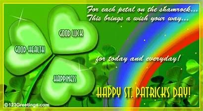 Luck Health Happiness Irish Patrick Saint Card