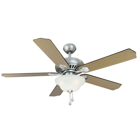 harbor breeze ceiling fan installation shop harbor breeze 52 in crosswinds brushed nickel ceiling