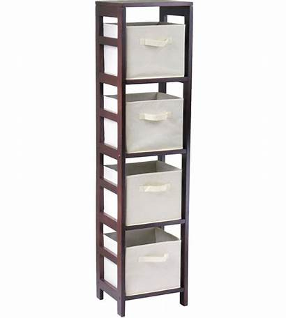 Storage Basket Shelf Bookcase Baskets Shelves Wood