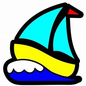 OnlineLabels Clip Art - Sailboat Icon