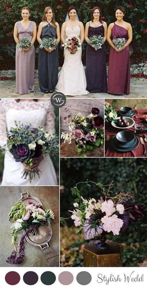 wedding trends  fantastic burgundy color combos