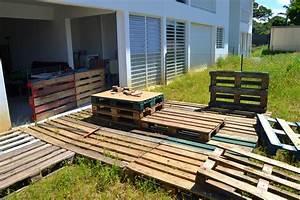 Palette De Bois : fabriquer un salon de jardin avec des palettes fashion ~ Premium-room.com Idées de Décoration