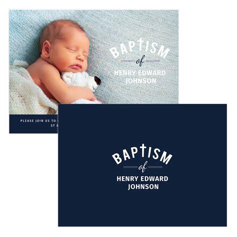 Simple Baptism Invitation Template Mockaroon