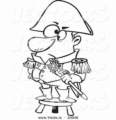 Captain Coloring Short Cartoon Person Caveman Standing