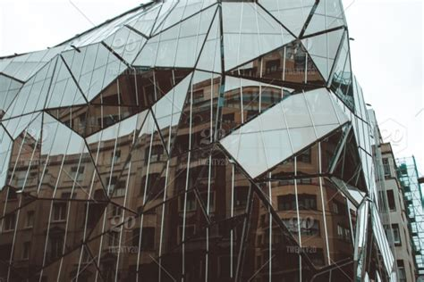Abstract Shapes Architecture by Geometric Design Facade Modern Architecture