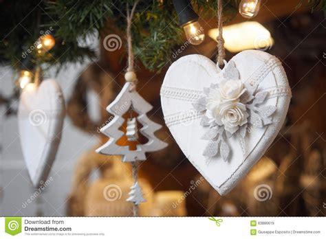 Christmas Decoration. Wooden Heart Stock Photo