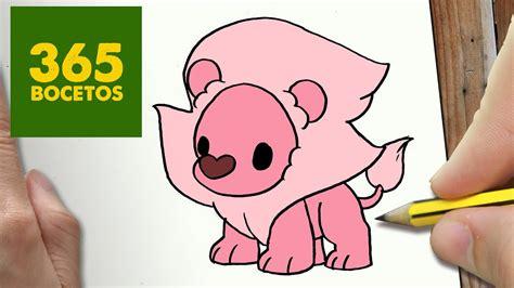 como dibujar leon steven universe kawaii paso  paso dibujos kawaii faciles draw lion youtube