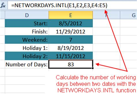 count days excel