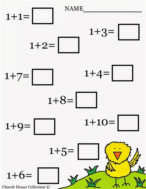 kindergarten math addition worksheets free 1000 images