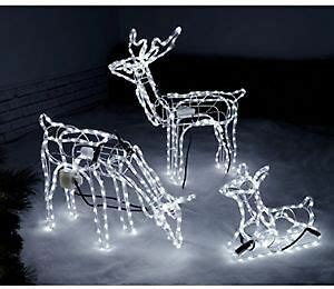 led light  reindeer family moving heads xmas decoration