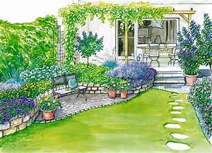 ideen fur einen reihenhausgarten garten beautiful und With französischer balkon mit land und garten zeitschrift