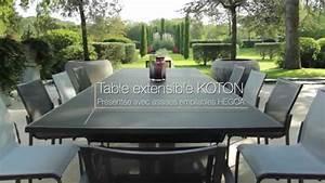 Table De Jardin Extensible : table extensible koton les jardins tables de jardin haut de gamme youtube ~ Teatrodelosmanantiales.com Idées de Décoration