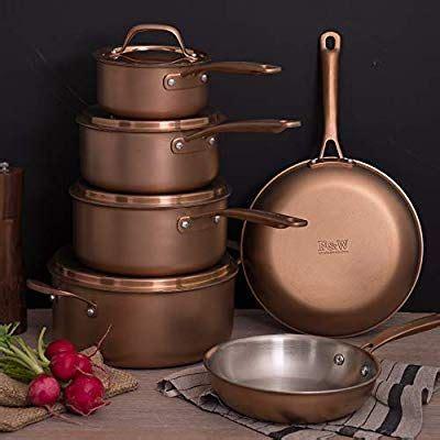 amazoncom fleischer wolf copper pots  pans sets induction cookware sets  pieces triply