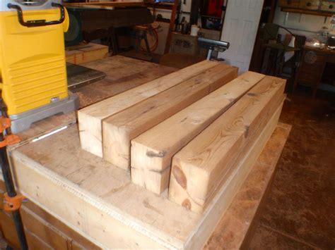 reclaimed barn beam  growth doug fir work bench