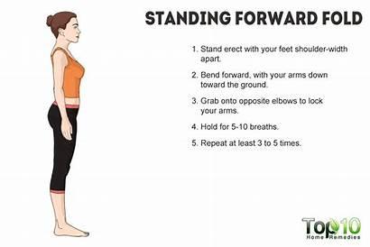 Standing Forward Yoga Fold Bend Pose Poses