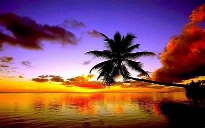 Tropical Sunset Desktop Beach Wallpapers Cool Landscape