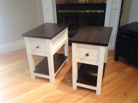 ana white country side tables  headboard diy projects