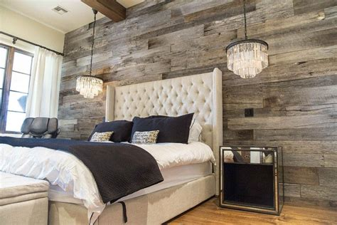 Master Bedroom Wall by Tobacco Barn Grey Wood Wall Covering Master Bedroom