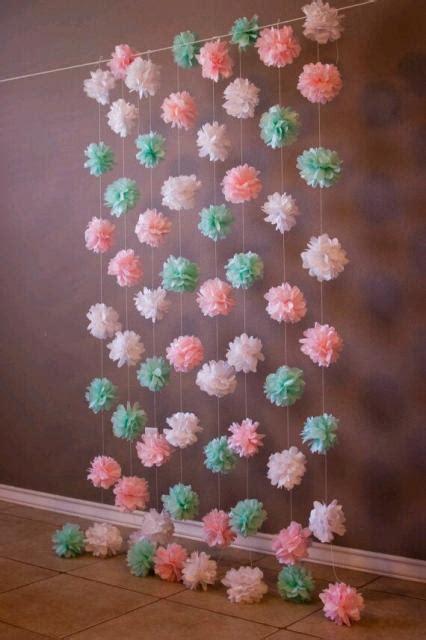 cortina de papel crepom  decoracoes incriveis dicas como fazer