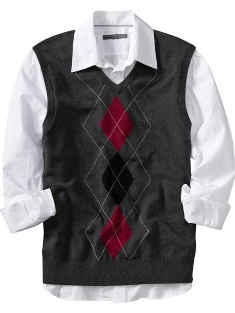 mens checkered sweater vest baggage clothing