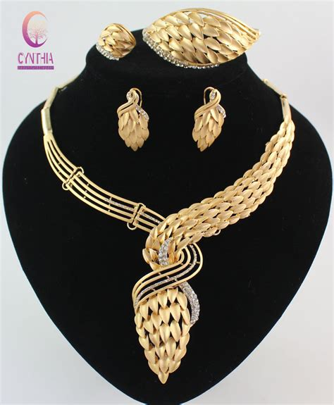 aliexpress buy new arrival costume jewelry sets gold color wedding